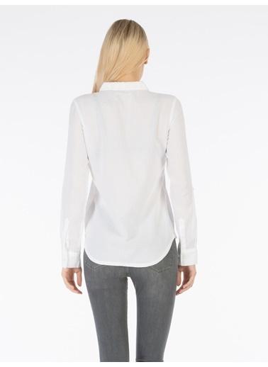 Colin's Uzun Kollu Gömlek Beyaz